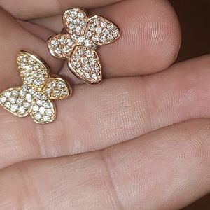 Antique Effy Bita 14kt Gold and Diamonds Butterfly